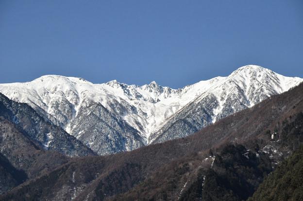 千畳敷カールと宝剣岳。