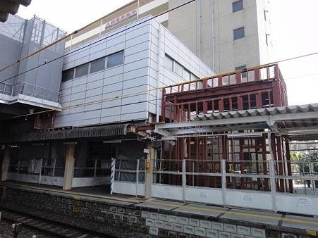 犬山駅工事中のエレベータ1・2番線