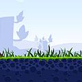 写真: Chromeアプリ:Angry Birds(プレイ画面、拡大)