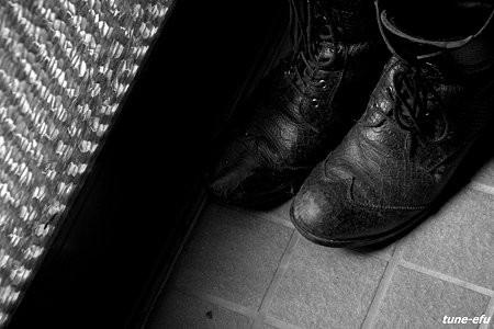 ッ・・疲れた靴