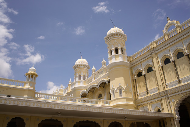 マイソール宮殿の横側 @インド マイソール
