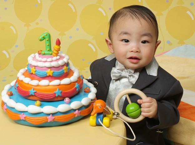 ヒロくん一歳の記念写真