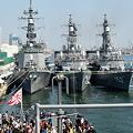 国際観艦式(予行)出港前風景