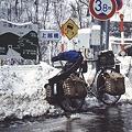 写真: 雪の三国越え