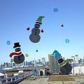 写真: 空飛ぶ雪だるま!☆ちょっと早いけどメリークリスマス☆