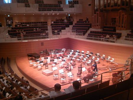 東京交響楽団第61回新潟定期前半のセッティング