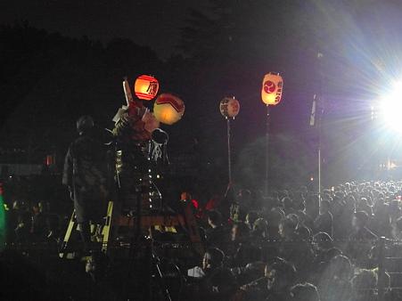 炎の祭典:大筒の練り出し