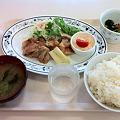写真: 札幌市建設部下水道庁舎食堂 日替わり定食(鶏の山賊焼き)