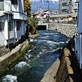 写真: 富士山と湧水