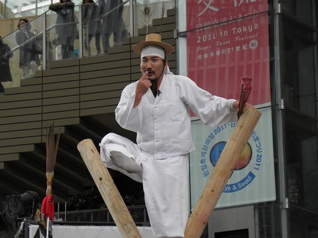綱渡り キム デギュン 人間文化財 六本木ヒルズアリーナ 2011.10.2