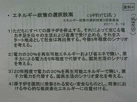 日本学術会議のエネルギー政策