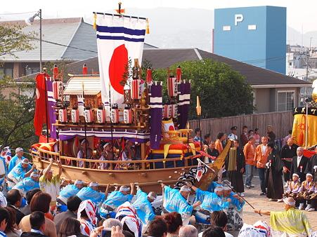 本古川町の御座船