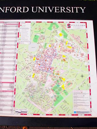 スタンフォード大学案内図