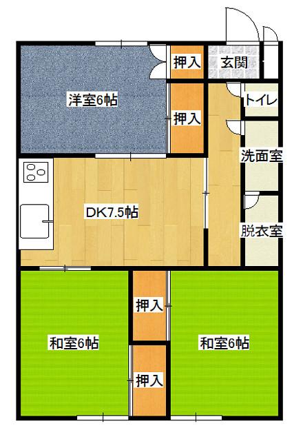 二郎マンション-302