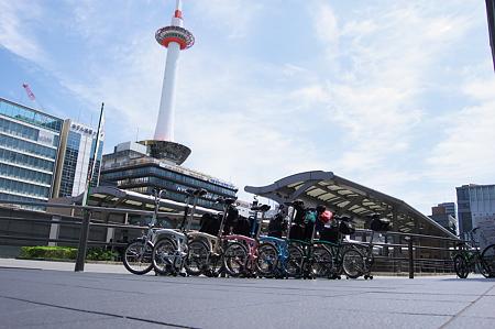 京都駅にて集合です