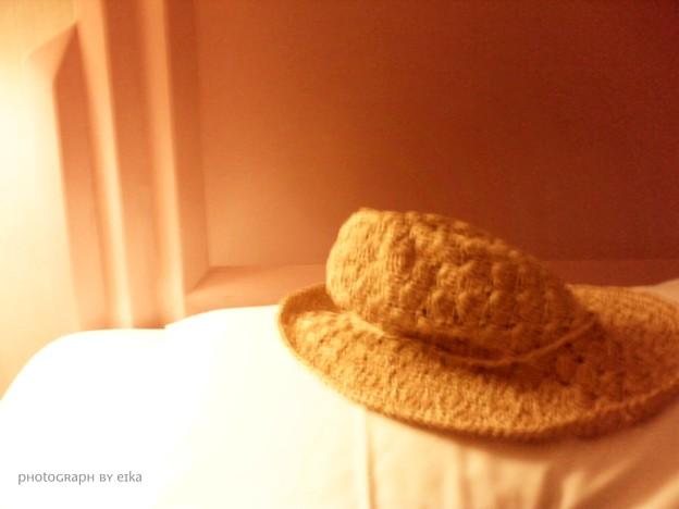 麦藁帽子の寝床