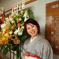 Photos: 2013年50歳お花の前で