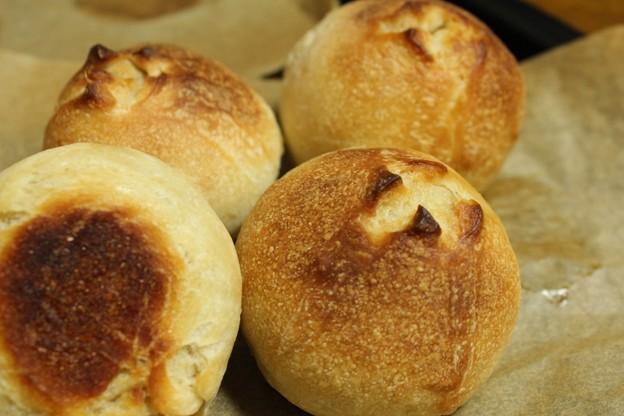 レーズン酵母の丸パン