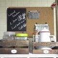 Photos: 黒板に書くなんて何十年ぶりだろ?新鮮☆ホワイトボードなら仕事で使っていたが。しかし書きづらいなぁ~このチョーク。