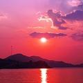 岩子島の夕暮れ~師走の海~