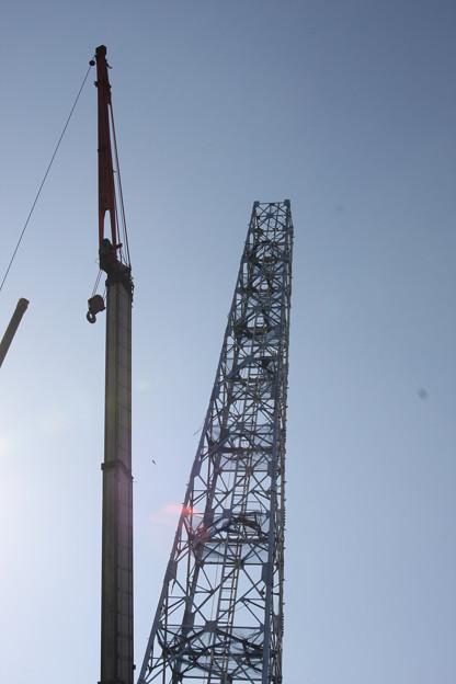 アンテナ設置中大平富士見平