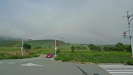 雨上がりの瀬の本高原(4)三愛レストハウス前