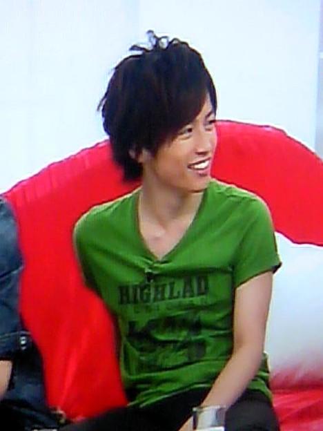 こんやのしょごたんのお衣装が緑なけん(*^艸^)