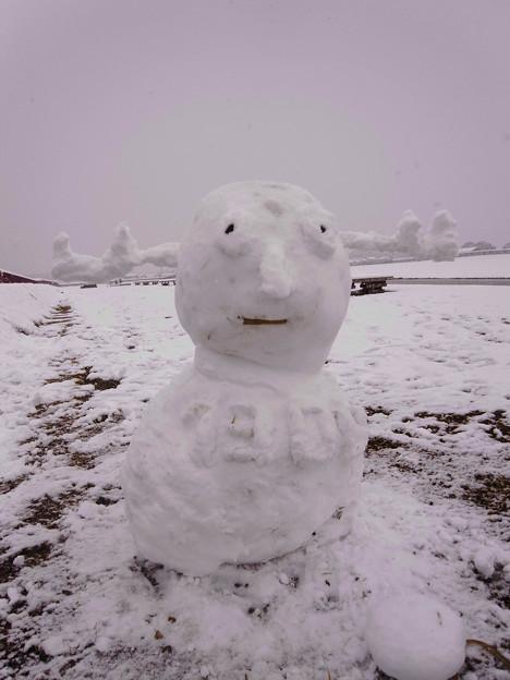 せんとくん雪だるま
