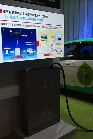 電気自動車の充電スタンド(シャープ)
